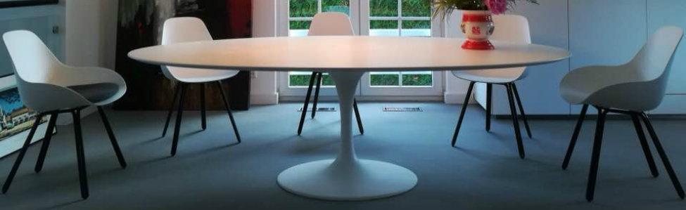 Saarinen tafels in alle standaard afmetingen