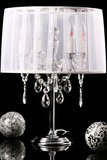 Design tafellamp staande kroonluchter, Wit_