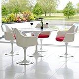 Aanbieding: ronde Tulip tafel 120cm met 4 stoelen_