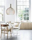 Ronde Tulip tafel van Saarinen, Carrara marmeren blad 120cm_