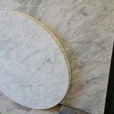 Saarinen Tulip tafel 127cm Arabescato marmeren blad_