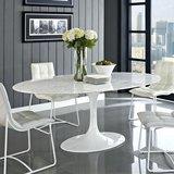 Saarinen Tulip tafel 169 x 111 Carrara marmer_
