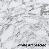 Ovale Saarinen Tulip tafel,  Arabescato marmeren blad_
