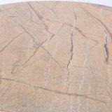 Showroom aanbieding: Ronde Saarinen Tulip tafel 107cm Forest Gold marmer_