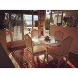 Uitschuifbare Tulip tafel, rond-ovaal van Saarinen_