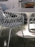 Wire Armchair - terras stoel wit_