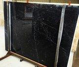 Saarinen Tulip tafel 244x137 zwart Marquinia marmeren blad_