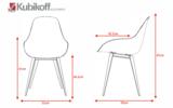 Afgeprijsd: Kubikoff dimple Slice chair zwart_