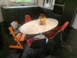 Saarinen Tulip tafel 180x90cm Statuario marmer