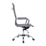 Bureau stoel Retro grijs gestoffeerd hoog_