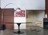 Ovale Tulip tafel met Massief houten blad 244x137cm_