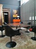 Ovale Saarinen Tulip tafel 199x121cm. Bruin Marrone marmer_