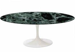 Ovale Saarinen Tulip tafel 199x121cm. groen marmer