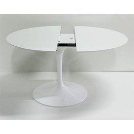 Uitschuifbare tafel Tulip, rond/ovaal van Saarinen