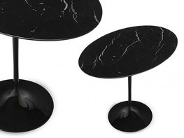 Tulip oval side table van Saarinen - Marquinia marmer