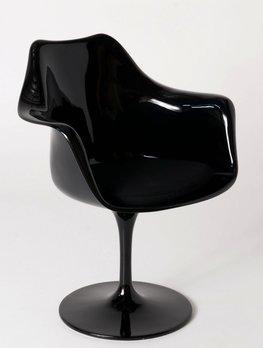 Tulip armchair zwart