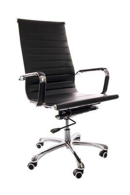 Bureau stoel Retro zwart hoog