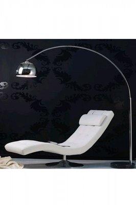 Design vloerlamp bol, Chroom