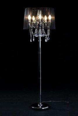 Design vloerlamp staande kroonluchter, Zwart