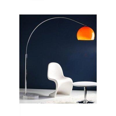 Design vloerlamp Lungo, Oranje