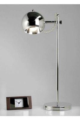 Design tafellamp rond, Chroom