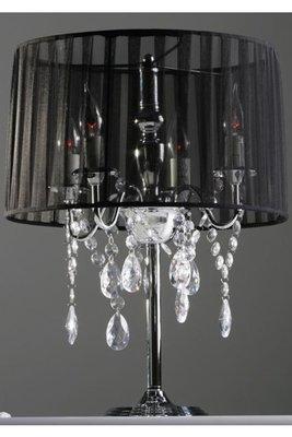 Design tafellamp staande kroonluchter, Zwart