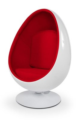 Design Cocoon fauteuil Wit Rood