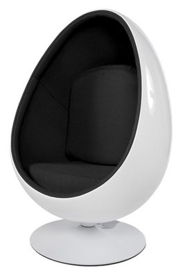 Design Cocoon chair Wit Zwart