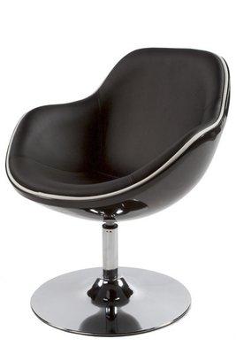 Design fauteuil, Zwart