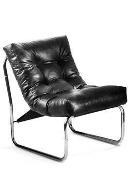 Design fauteuil Relax, Zwart.