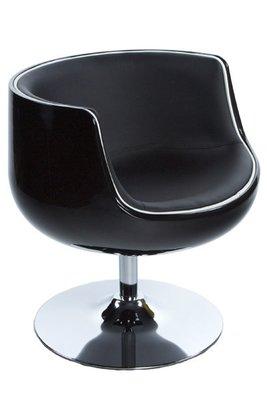 Design fauteuil Cuba Zwart