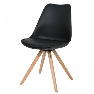 Eetkamer stoel Ralf hout zwart