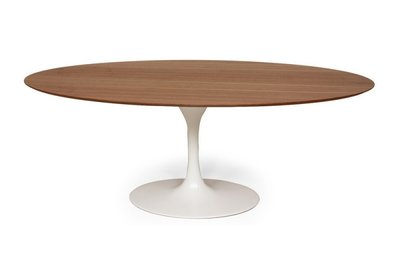 Ovale Tulip Saarinen tafel noten fineer blad 199x120
