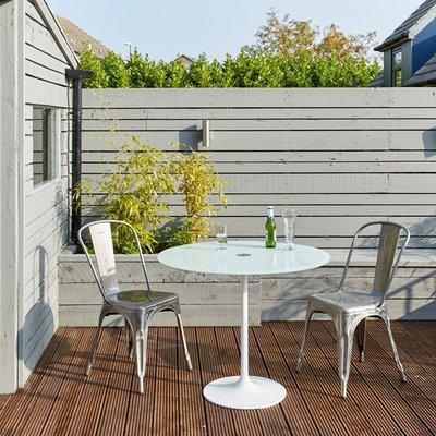 Saarinen Tulip Tafel 90 cm outdoor - wit