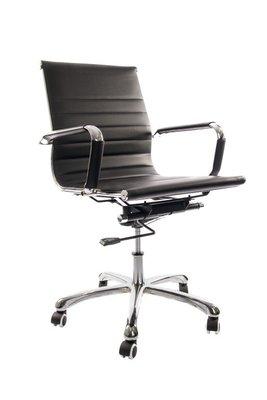 Bureau stoel Retro laag zwart