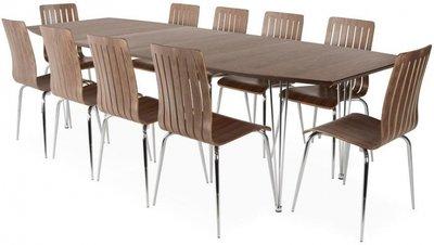 Uitschuifbare tafel Retro, Noten blad