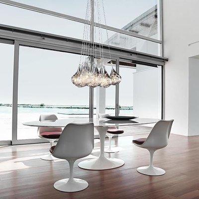 Drop cluster bulb 10 zilver hanglamp