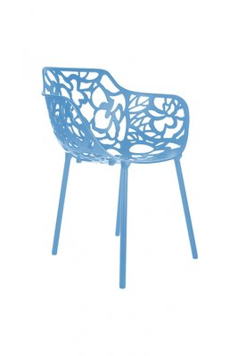 Cast Magnolia stoel met armleuning licht blauw