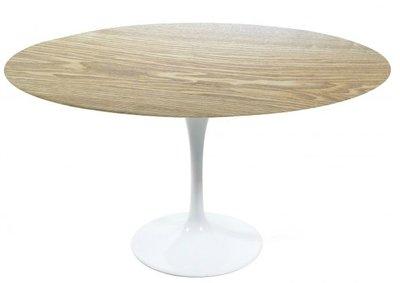 Saarinen Tulip tafel, Ø 120cm eiken fineer blad