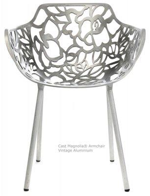 Cast Magnolia Armchair Vintage aluminium