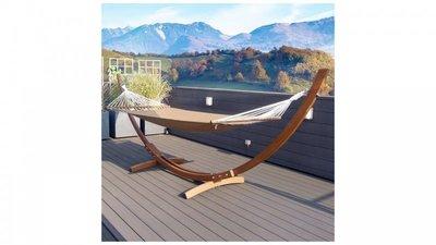 Luxe  Hangmat inclusief houten standaard