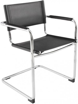 Buisframe design stoel zwart