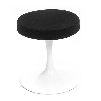 Saarinen Tulip kruk - zwarte bekleding