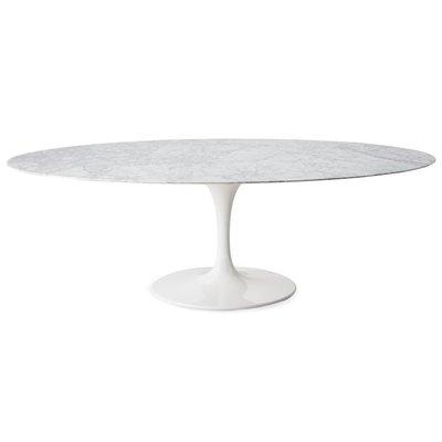 Tulip tafel 180x90cm Statuario marmer