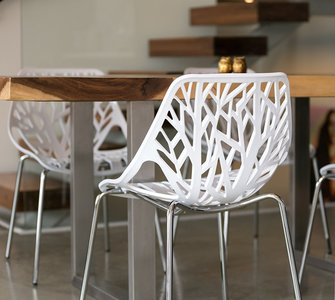 Retro stoel Forest chair wit