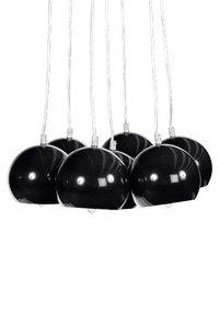 Design hanglamp 7 halve bollen zwart