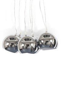 Design hanglamp 7 halve bollen chroom