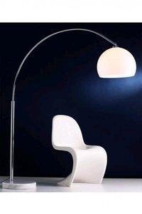 Design vloerlamp bol, Wit