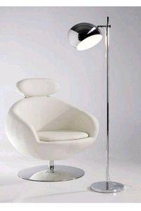 Design vloerlamp Calore, Chroom