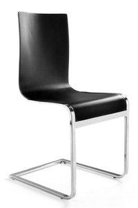 Design stoel Legno, Zwart